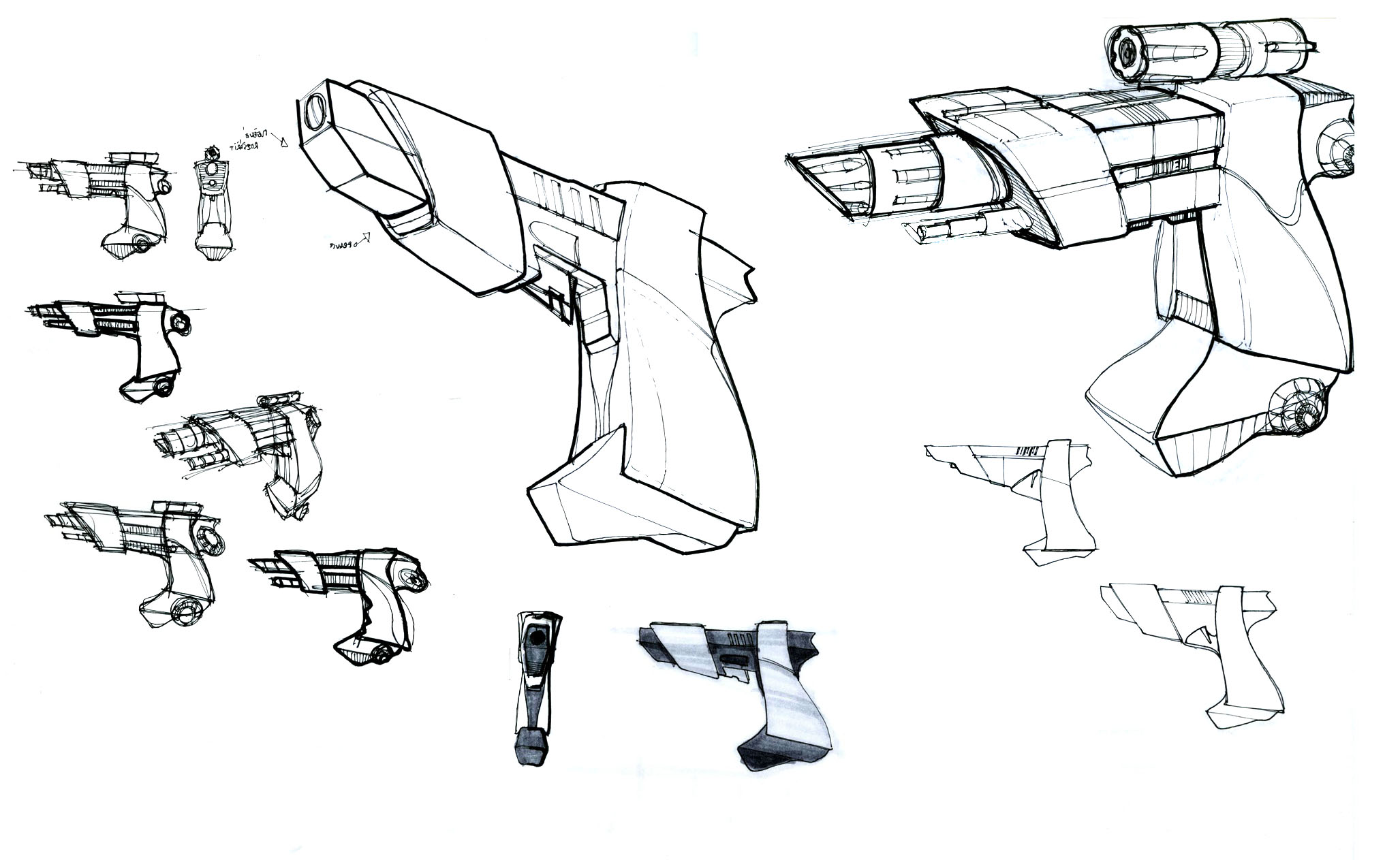 personal gun concept and sketches