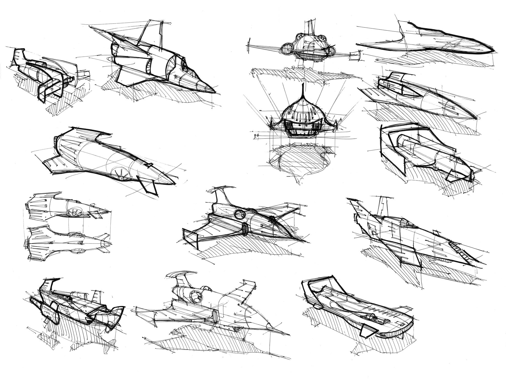 starship concepts and sketches